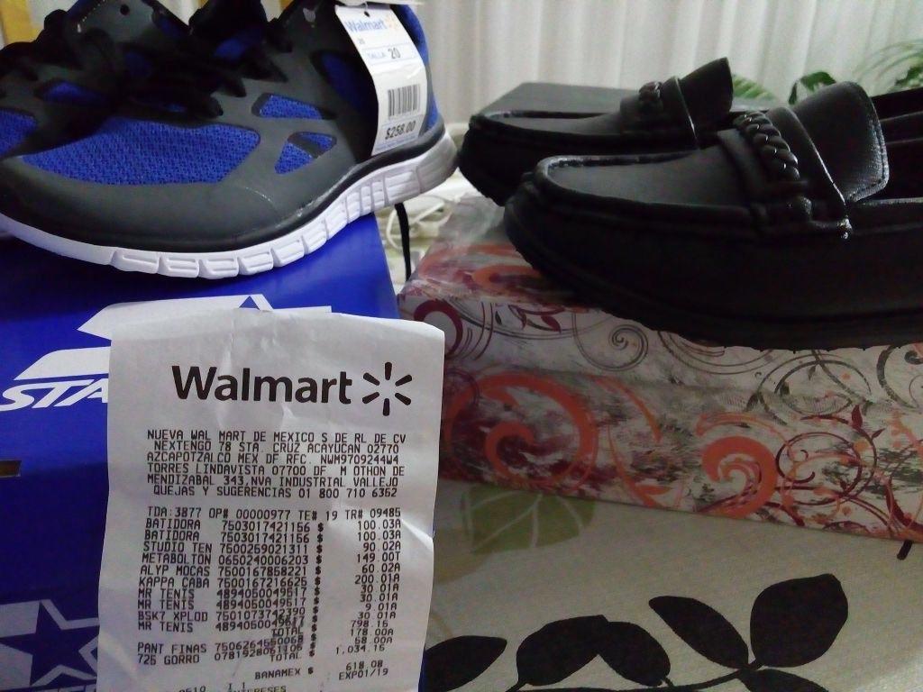 Walmart: tennis de niño en $30.01 y zapatos de dama en $60.02 y $90.02