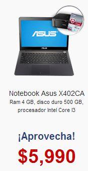 Walmart: laptop Asus con Intel Core i3, multifuncional y McAfee $5,990 y MSI