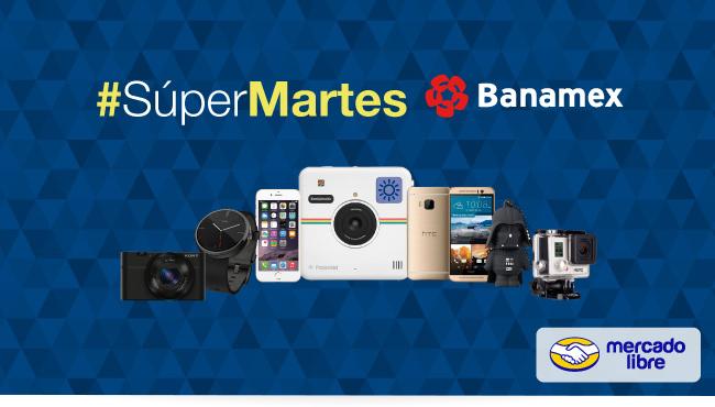 Super Martes Banamex en Mercadolibre: Cupón de $300 en Mercadopago, envío gratis y hasta 18 msi sólo hoy