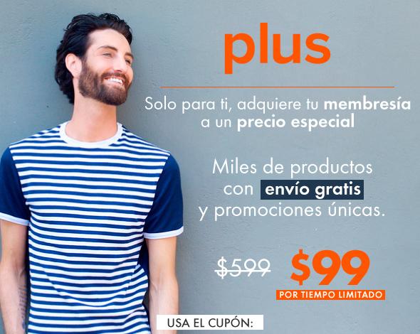 Linio Plus a $99 con cupón (personal, sólo si te llegó por mail)