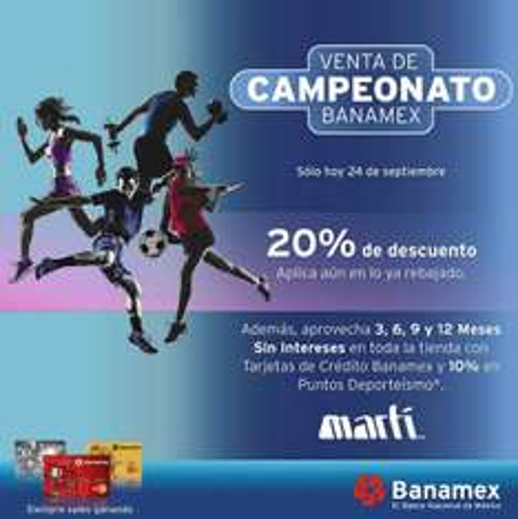 Martí venta de campeonato: 20% de descuento incluyendo rebajas con BMX