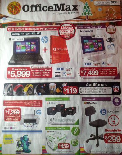 Folleto de ofertas en OfficeMax noviembre 2013