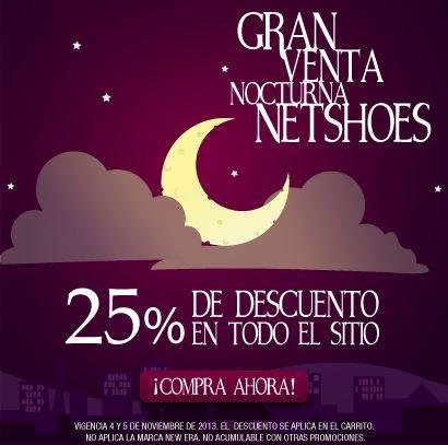 Venta Nocturna Netshoes 4 y 5 de noviembre
