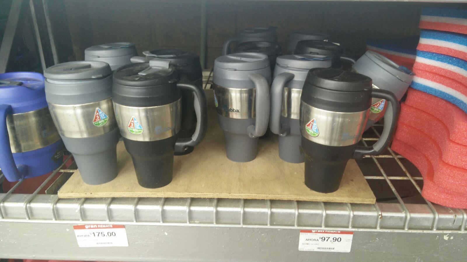 Home Depot: TERMO DE 34 OZ (1 LITRO) MARCA BUBBA A $97.90