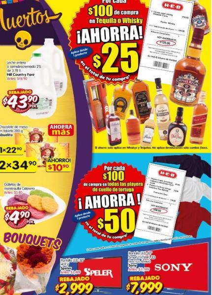"""HEB: Sony LED Smart TV 3D 42"""" $7,999, descuento en tequila y whisky y más"""