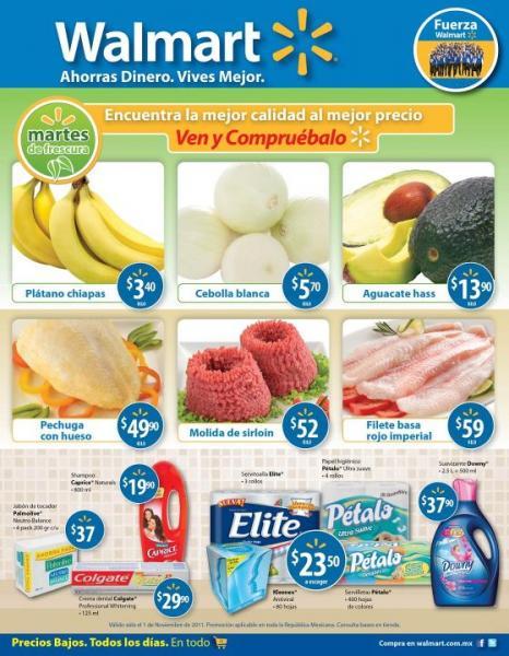 Folleto ofertas Walmart del 1 al 14 de noviembre