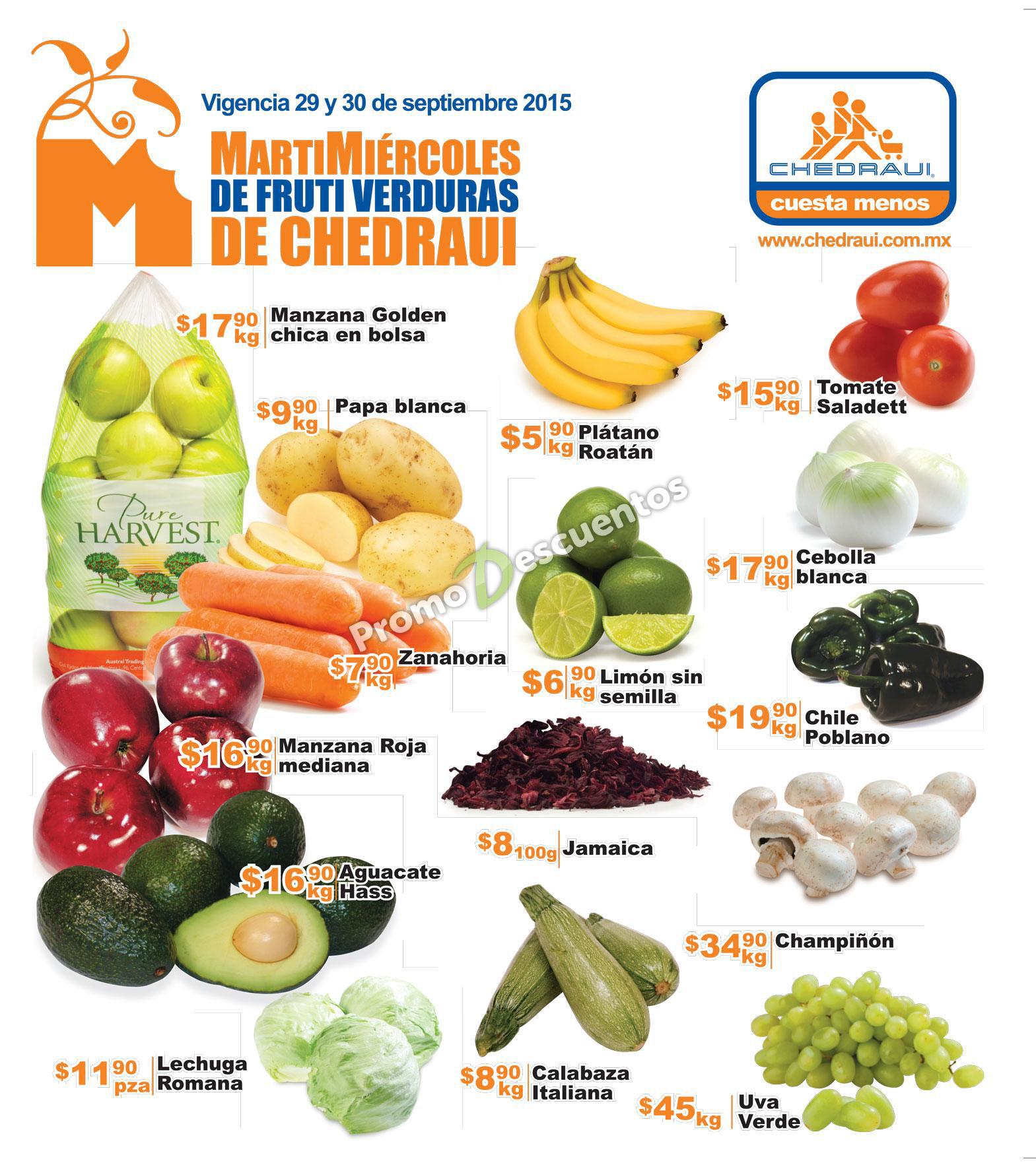 Martimiércoles en Chedraui 29 y 30 de septiembre (incluye bonificación en toda la tienda con Banorte)