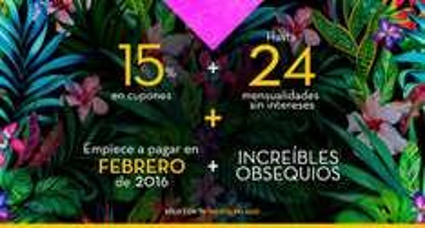 """Palacio de Hierro: Noches Palacio: 15 % en Cupones + 24 meses sin intereses + Empieza a pagar en Febrero + Regalos en tus compras (Hasta TV de 42"""")"""