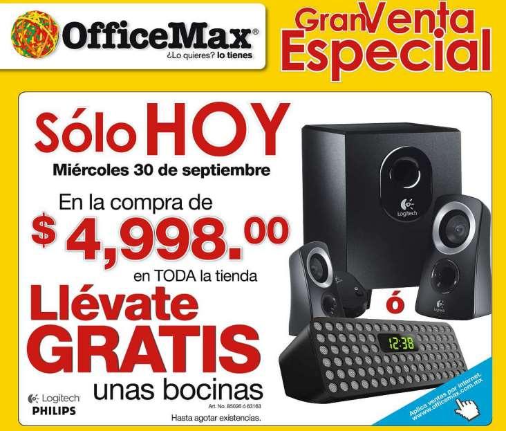 Venta especial OfficeMax septiembre 30