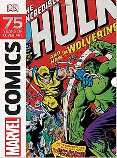 Amazon: libro Marvel Comics: 75 Years of Cover Art $14 dólares