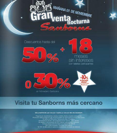 Venta Nocturna Sanborns 1 de noviembre