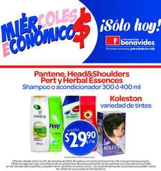 Farmacias Benavides: Head & Shoulders, Pantene, tintes Koleston y más a $30