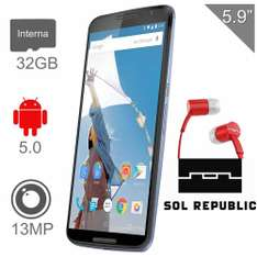 Walmart: Nexus 6 con Audifonos Sol Republic $7,199