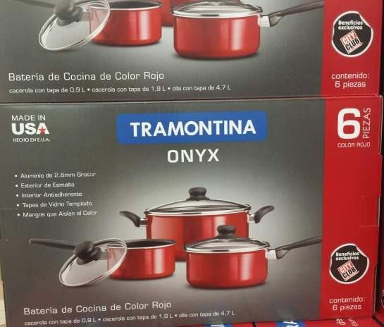 City Club: baterias de 6 pzas marca Tramontina a $499 y set de cuchillos con tenedores para carne (12 pzas) en $299
