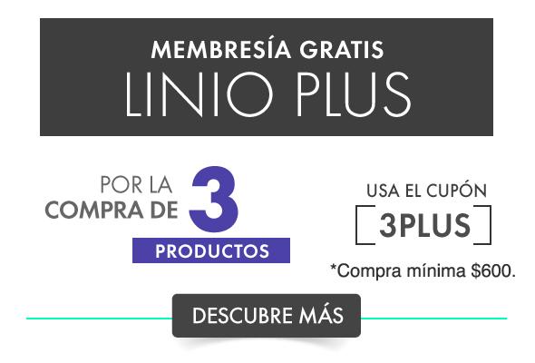 Linio, compra tres productos y la membresia Linio Plus es gratis