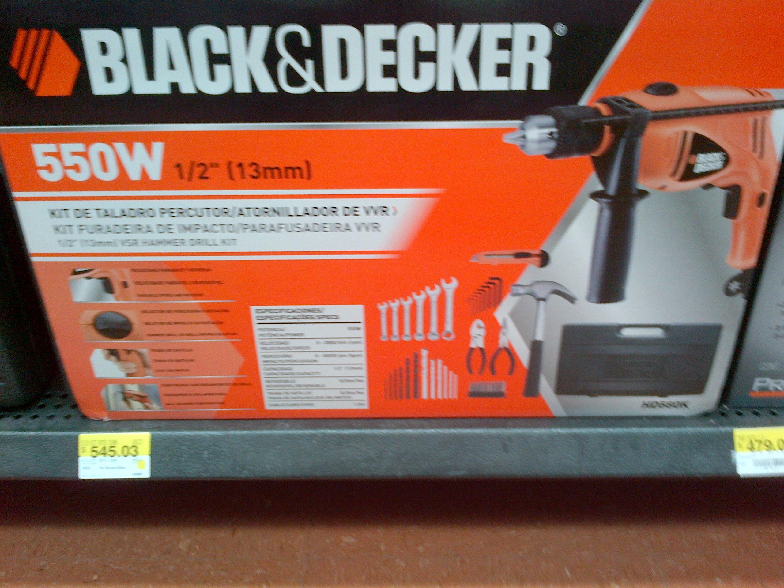 Walmart centrika Mty: Actualización, rebaja kit taladro, llaves, martillo, estuche pinzas $325.02