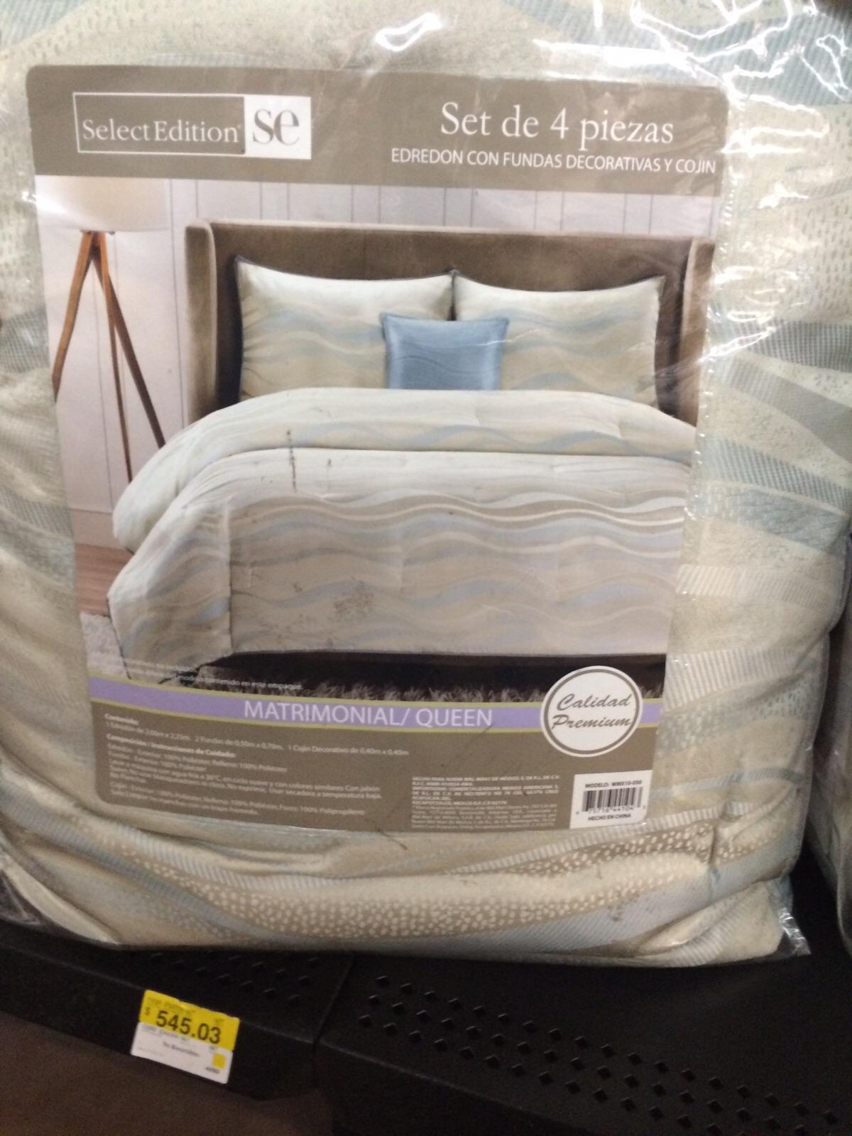 Walmart: edredón de 4 pzas a $250