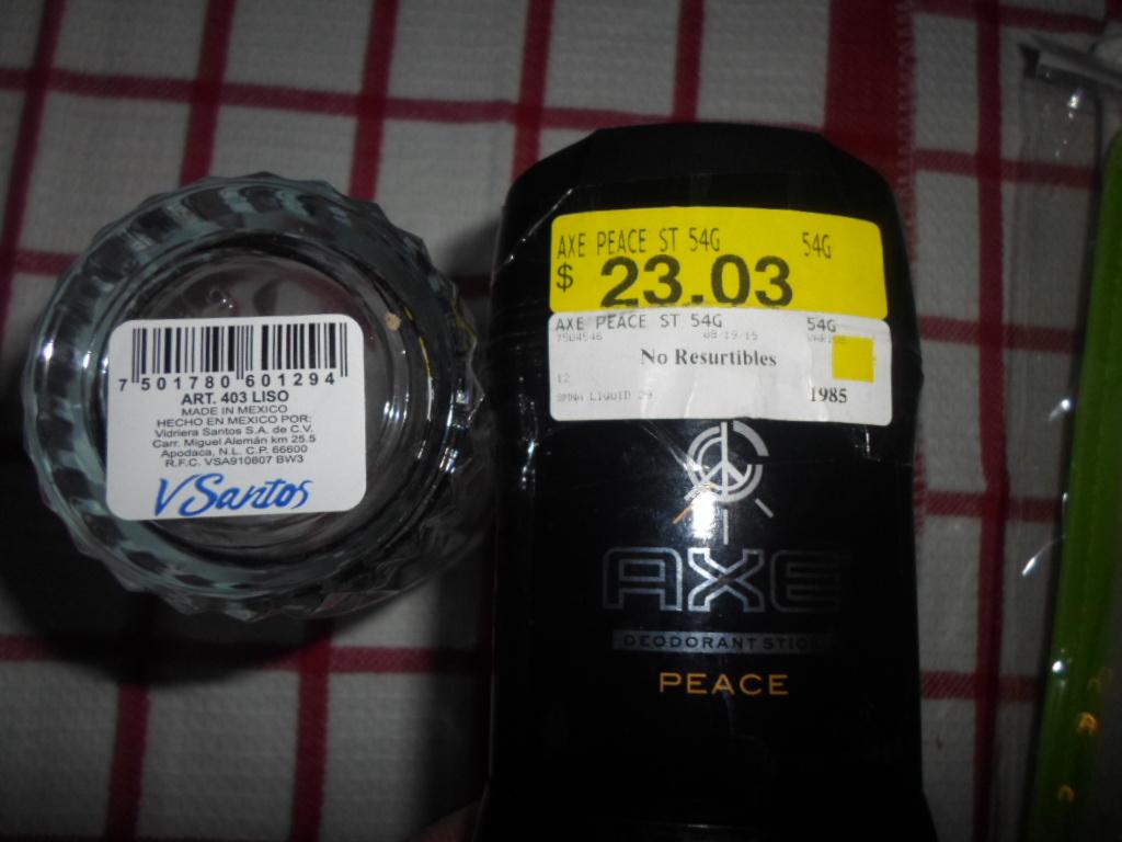 Walmart: vasos de vidrio 3.01, desodorante a 11.01, mantel 10.01 y más