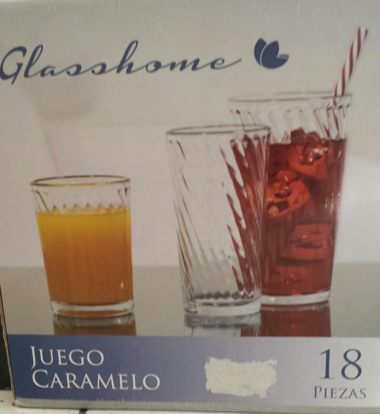 Walmart: 18 vasos Glasshome $75