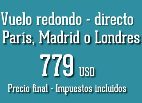 Vuelo a China o Japón $899 dólares, Francia, Inglaterra o España $779