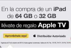 OfficeMax: Apple TV gratis comprando iPad de 32 o 64GB