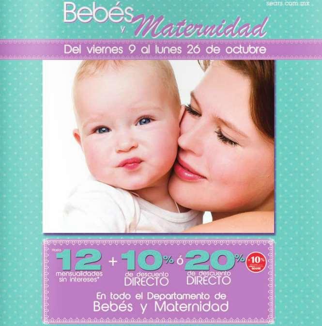 Sears: hasta 20% extra en rebajas y venta especial bebé y maternidad