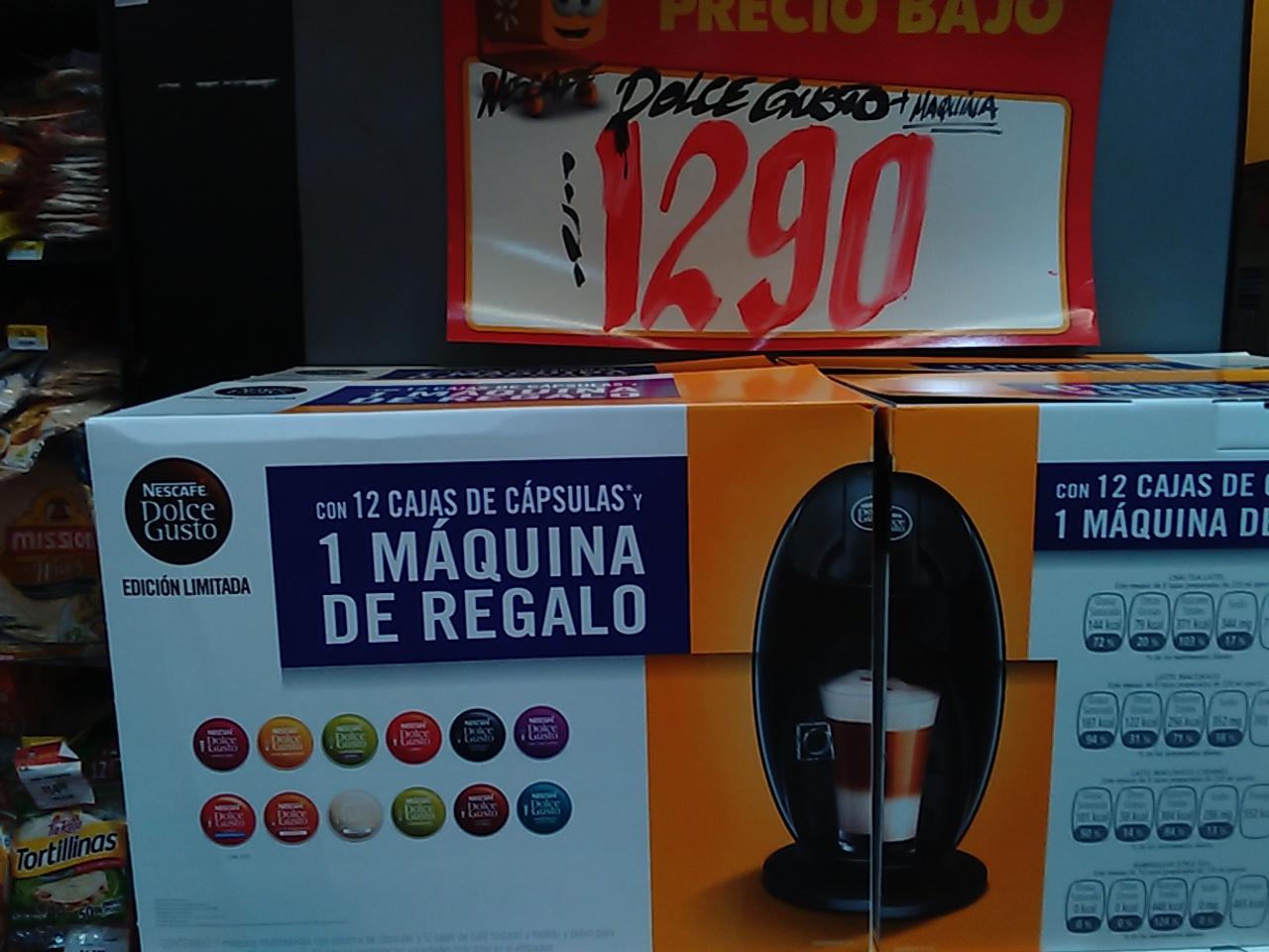 Walmart: cafetera dolce gusto + 192 cápsulas $1,290