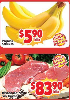 Ofertas de frutas y verduras Soriana octubre 22 y 23