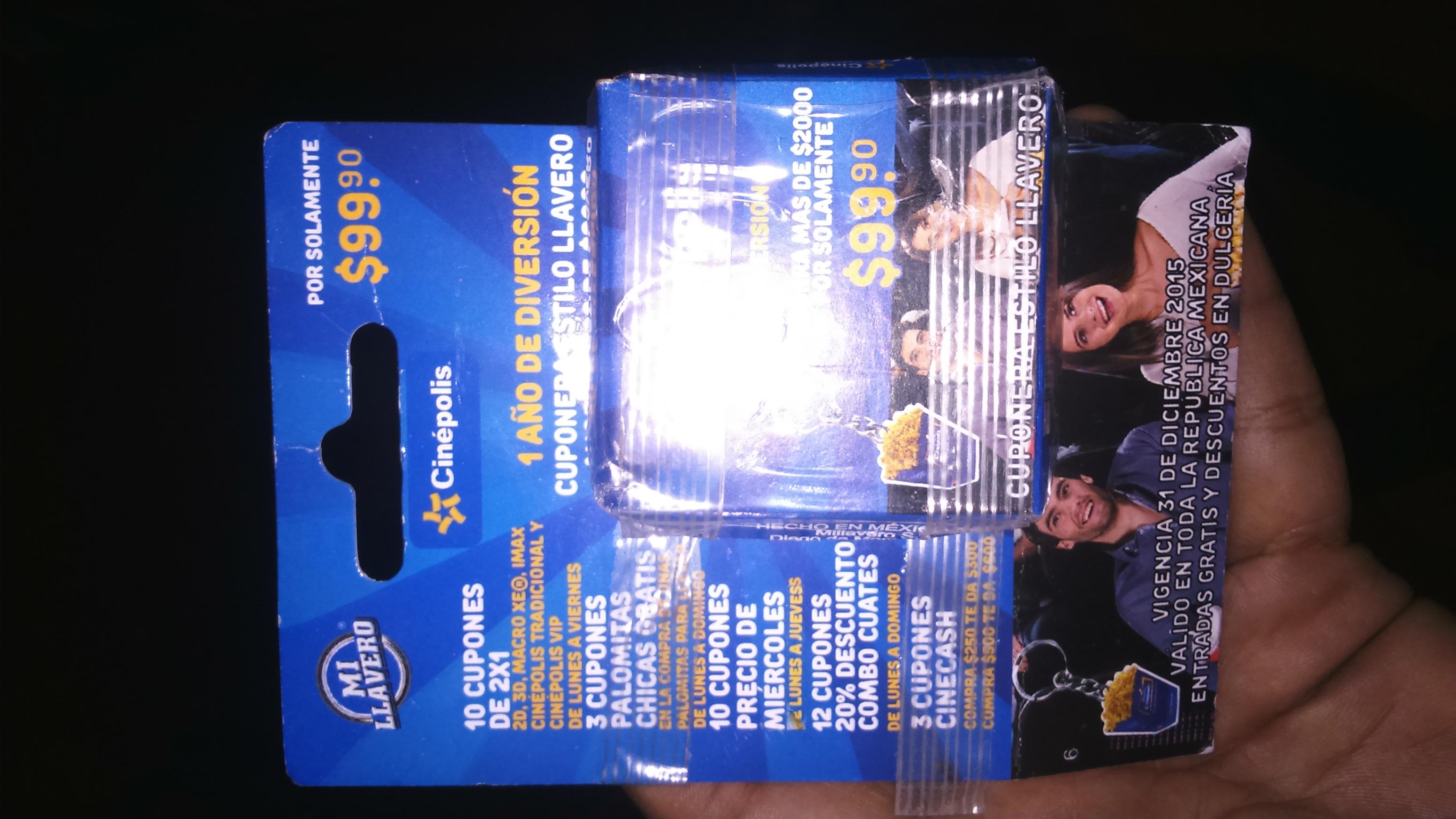 Walmart: cuponera Cinepolis tipo llavero a $42.03