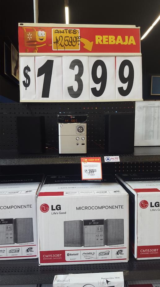 Walmart: Mini (mini) componente LG Bluetooth a $1,399