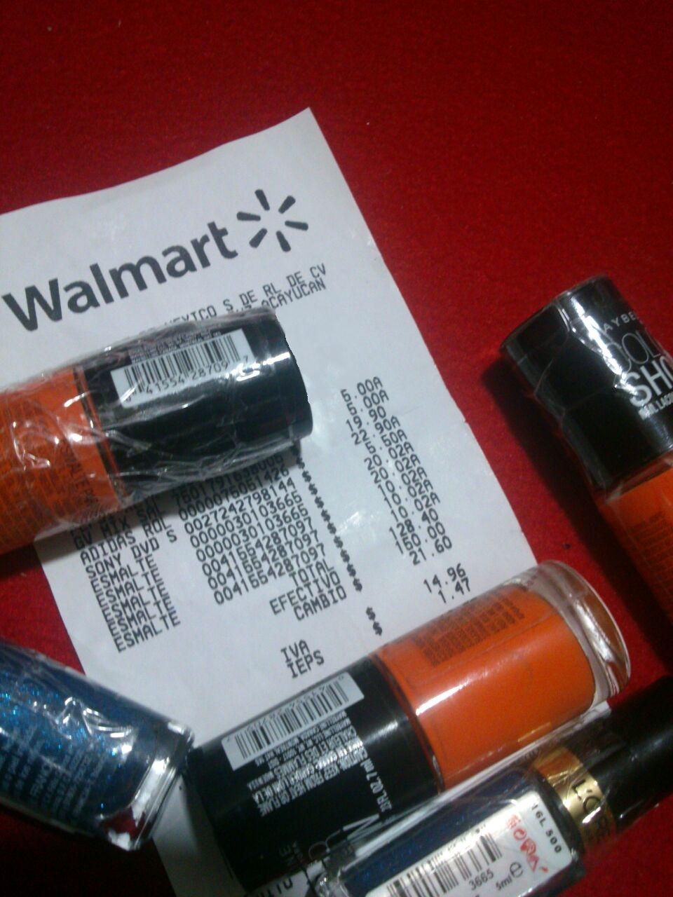 Walmart: Pintura de uñas a $10.02 y $20.02