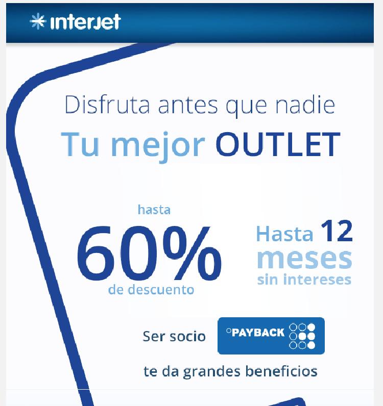 Outlet interjet: hasta 60% de descuento