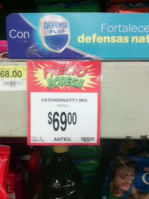 Bodega Aurrerá: Alimento para Gato Purina CatChow de 1.5kg $69 (antes $85)