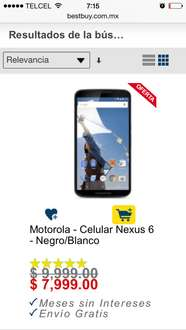 Best Buy: Motorola Nexus 6 $7,999