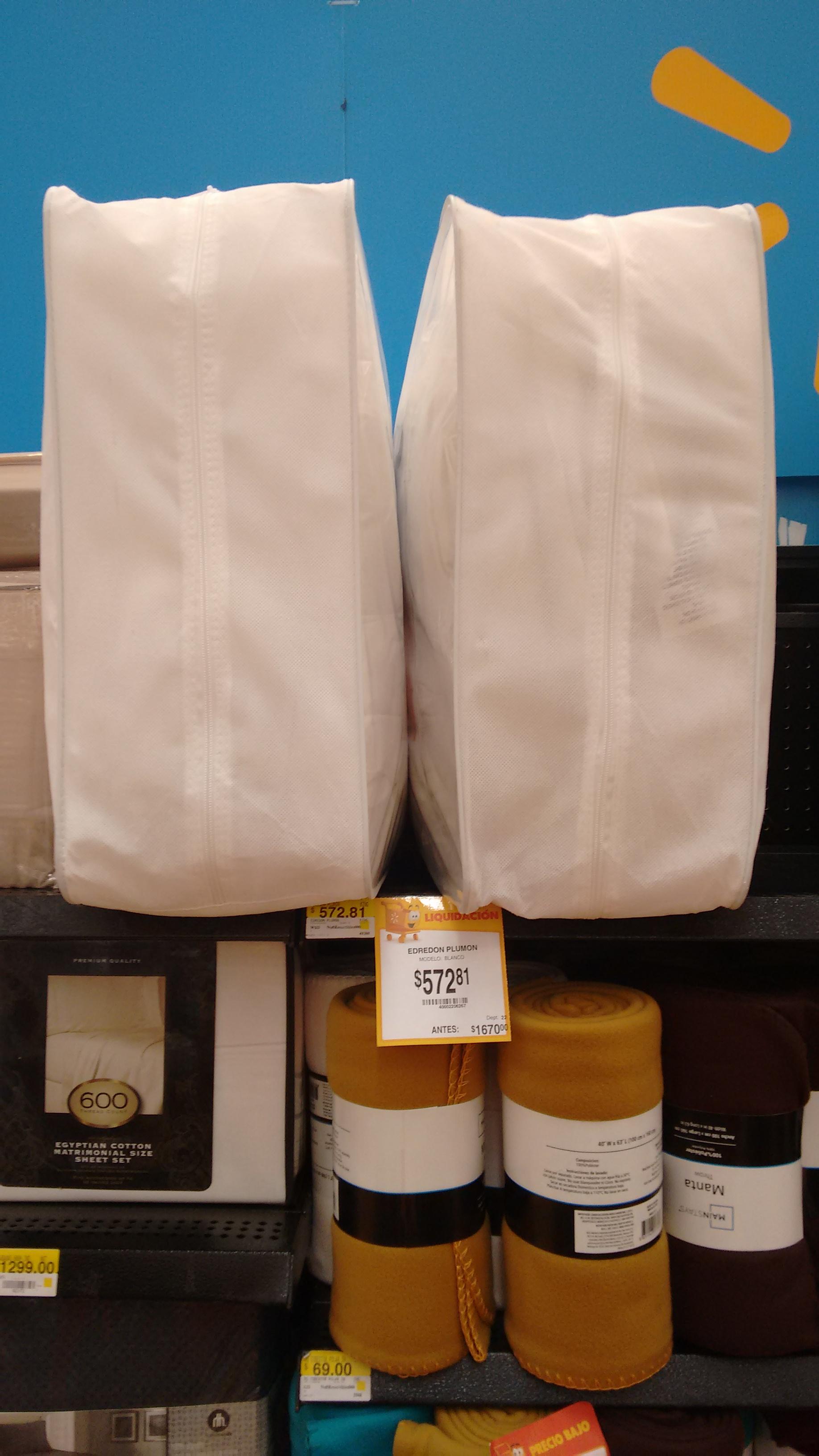 Walmart interlomas: edredón king size de puma de pato a $572
