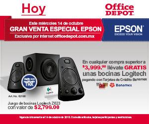 Office Depot: día Epson y bocinas Logitech gratis con compra mínima con Banamex