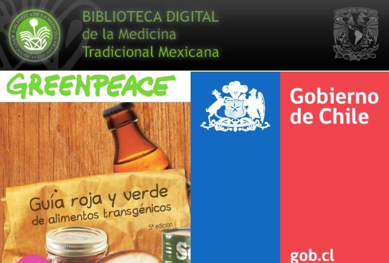UNAM, MINSAL, OMS Atlas Herbolaria Medicinal Gratis Y Legal. + GreenPeace Guia Verde Y Roja Para Mexico 5° Edicion