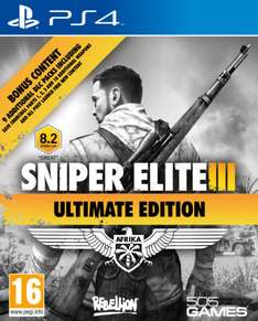 AMAZON: Sniper Elite 3 Ultimate Edition para PS4 $336.50