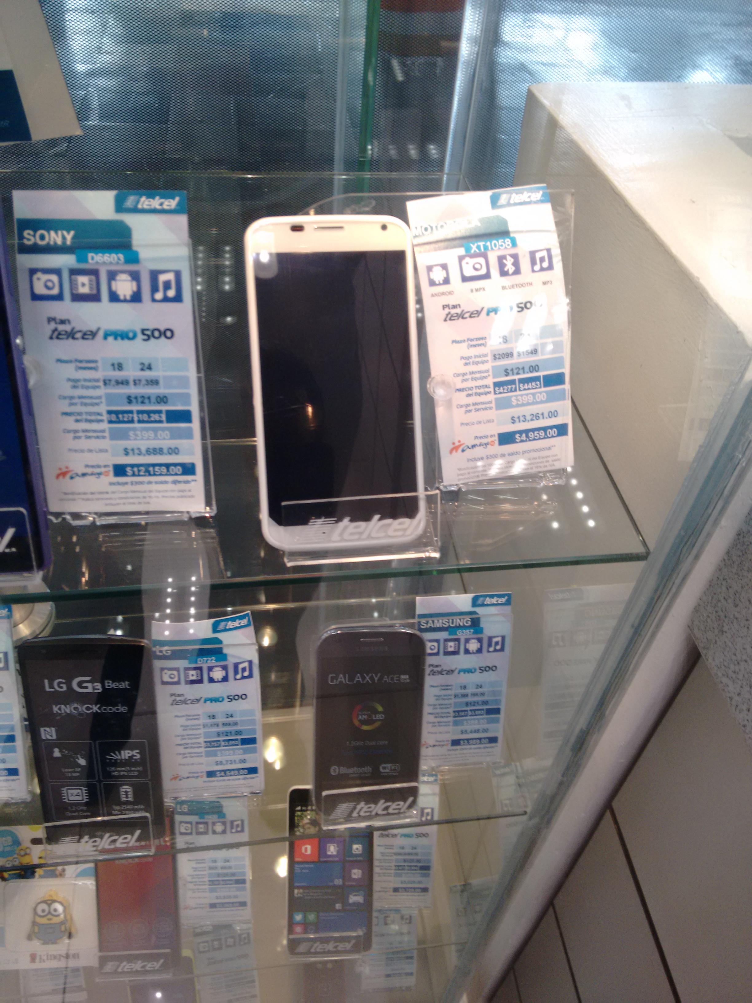 Telcel: Motorola XT1058 $4956