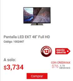 "Elektra: Pantalla LED EKT 48"" Full HD $3,734"
