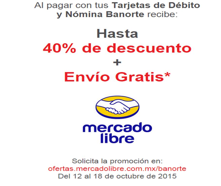 Mercado Libre: envío gratis y HASTA 40% de descuento en art seleccionados con Banorte