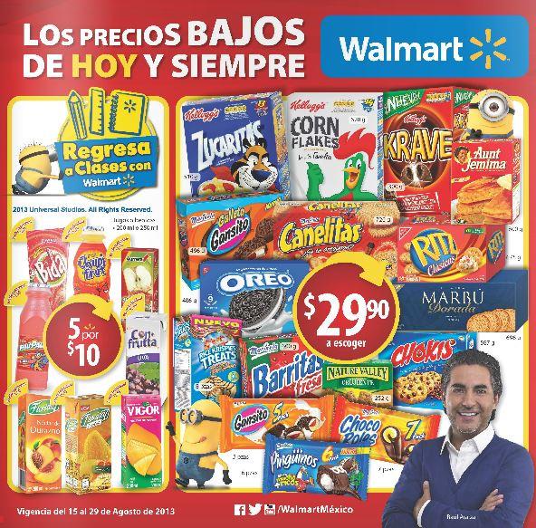 Folleto de ofertas Walmart del 15 al 28 de agosto