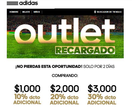 Adidas Descuento adicional en outlet (hasta 30% extra con compra mínima)
