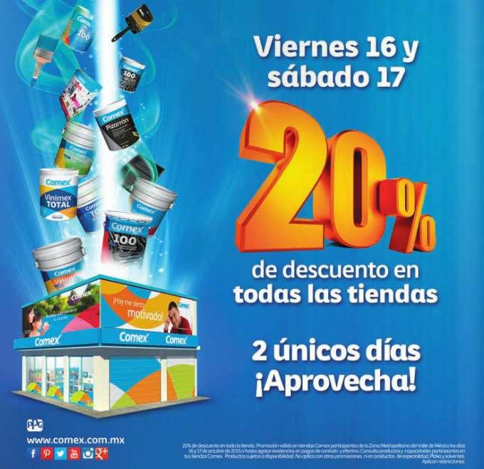 Tiendas Comex: 20% de descuento este fin