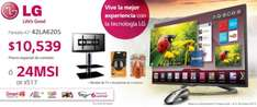 "Sears: LG LED 3D Smart TV 42"" con mueble y accesorios $10,539"