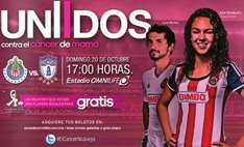 Entrada para partido Chivas Pachuca gratis para mujeres con playera rosa