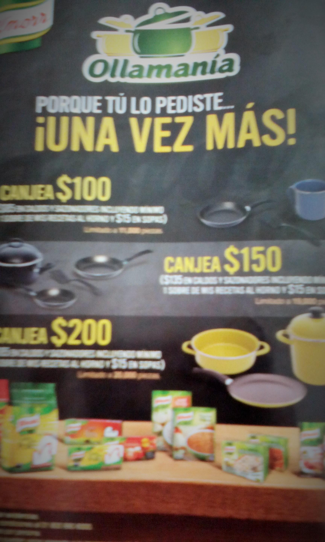 Walmart  ollas y sartenes gratis comprando productos Knorr