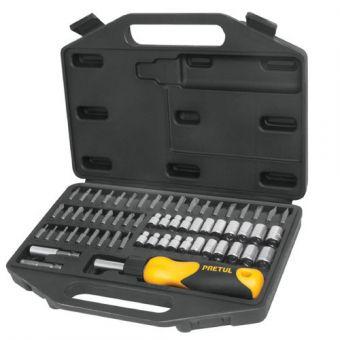LINIO: Set desarmador matraca, puntas/dados, 62 pzs, Pretul
