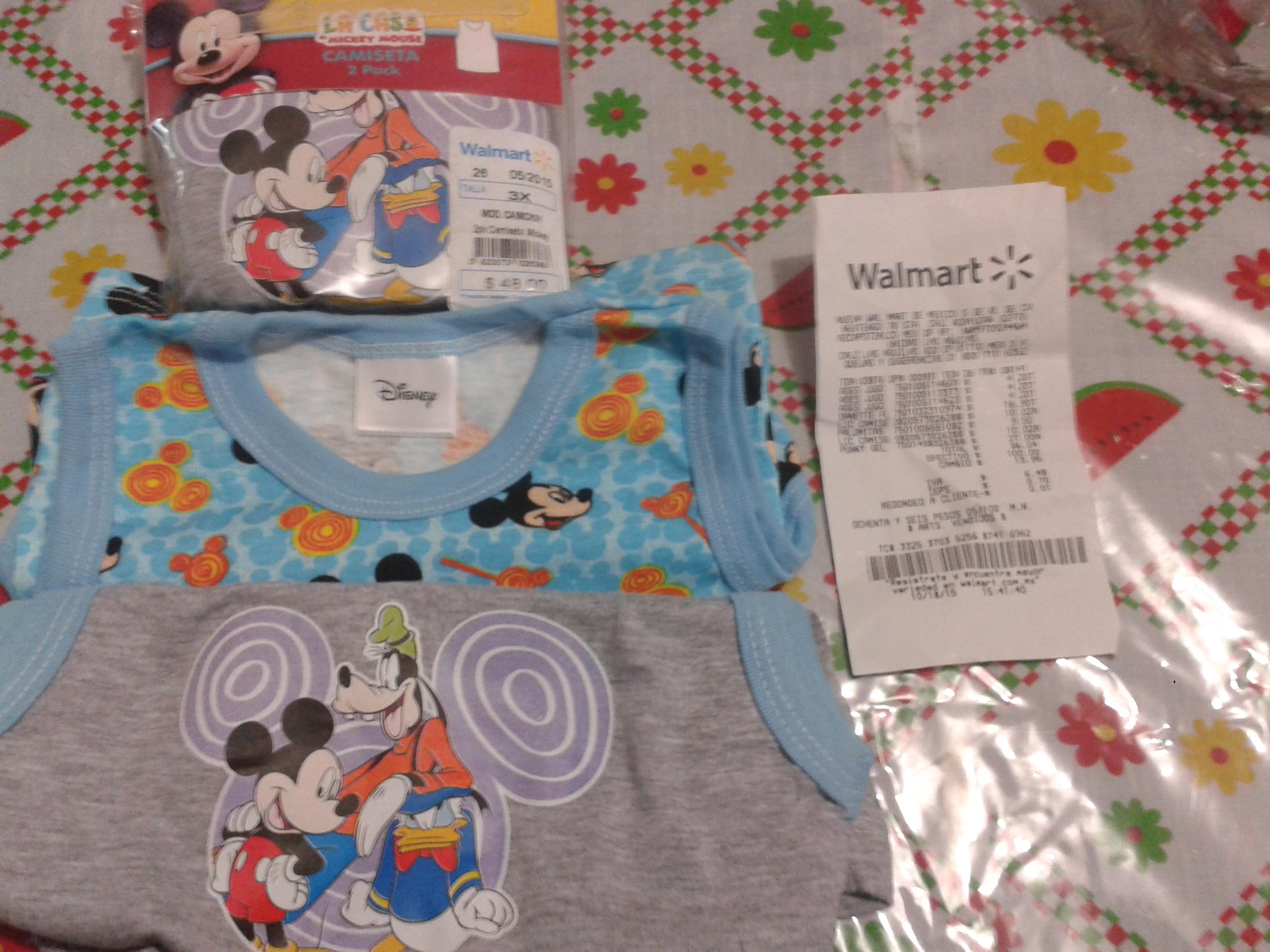 Walmart (DF): paquete 2 camisetas Disney $10.02