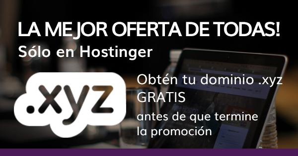 Hostinger: Dominio gratis!